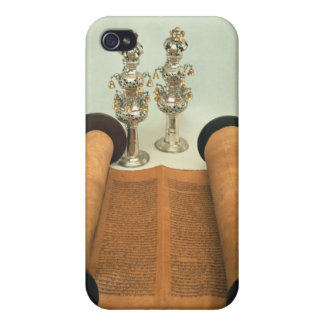 Torah scroll with Silver Crown finials Case For iPhone 4