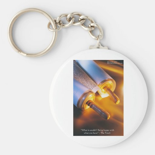 Torah Wisdom (Wealth/Happiness) Gifts, Mugs Etc Key Chains