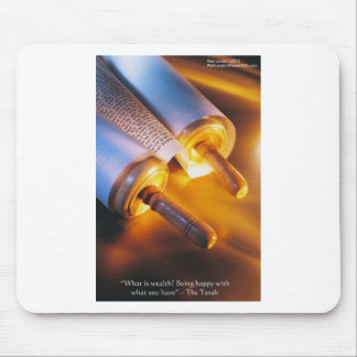 Torah Wisdom (Wealth/Happiness) Gifts, Mugs Etc Mouse Pad