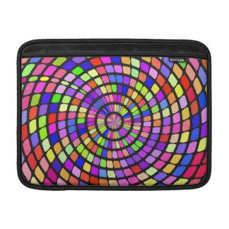 Torbellino colorido de las formas funda  MacBook