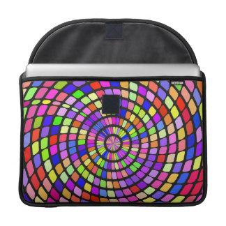 Torbellino colorido de las formas fundas para macbook pro