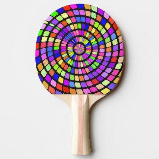 Torbellino colorido de las formas pala de ping pong