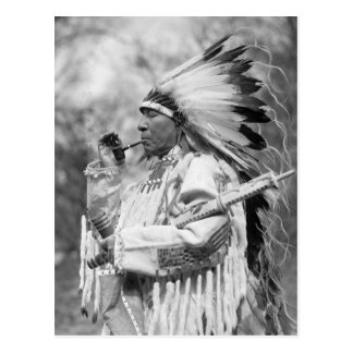Torbellino Soldier, 1925 del jefe indio Tarjeta Postal