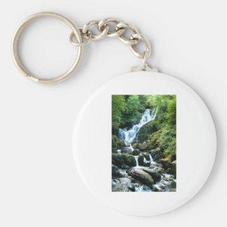 Torc Falls Killarney Ireland Basic Round Button Keychain