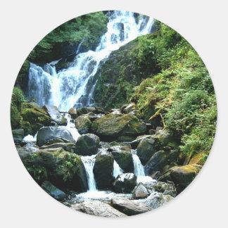 Torc Falls Killarney Ireland Classic Round Sticker
