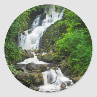 Torc waterfall scenic, Ireland Classic Round Sticker