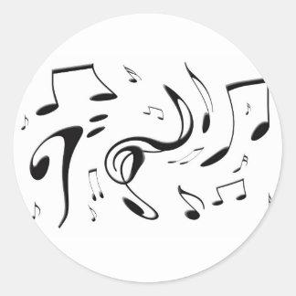 Torcer al pegatina de las notas musicales