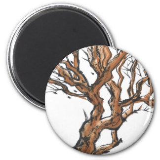 Torcer el imán de las ramas de árbol