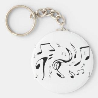 Torcer llavero de las notas musicales