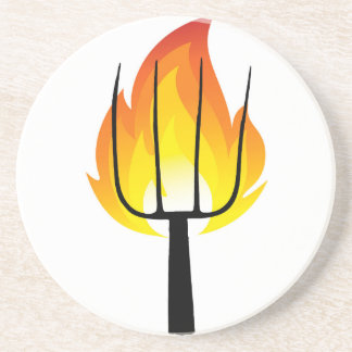 Torch and Pitchfork Drink Coaster