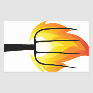 Torch and Pitchfork Rectangular Sticker