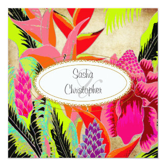 Torch Ginger+heliconia/Luau Wedding Personalized Announcements
