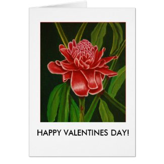 Torch Ginger Valentines Card