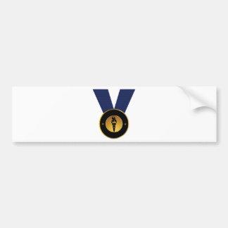 Torch Gold Medal Blue Ribbon Award Bumper Sticker
