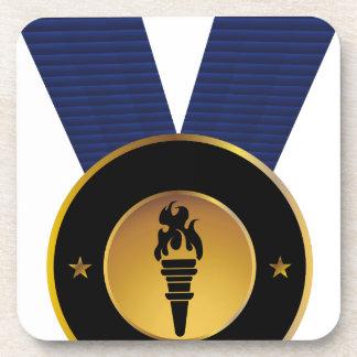 Torch Gold Medal Blue Ribbon Award Coaster
