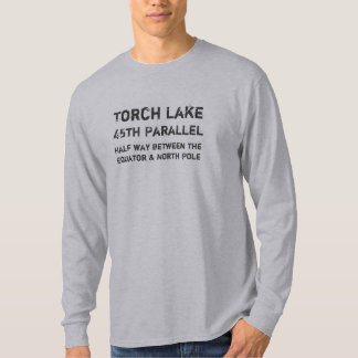 Torch Lake, Half way between the E... - Customized T-Shirt