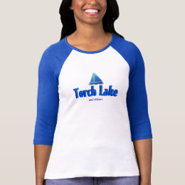 Torch Lake, Michigan - Ladies 3/4 Sleeve Raglan T-Shirt