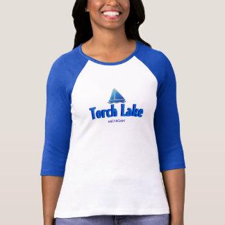Torch Lake, Michigan - Ladies 3/4 Sleeve Raglan T-Shirt