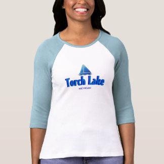 Torch Lake, Michigan - Ladies 3/4 Sleeve Raglan Tee Shirt