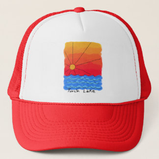 Torch Lake Sunrise Trucker Hat