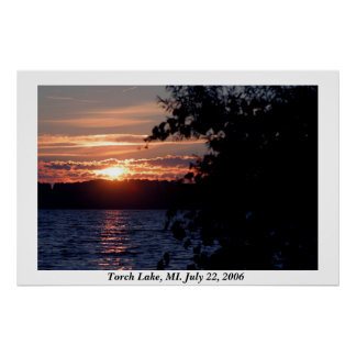 Torch Lake Sunset Poster