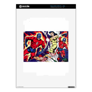 Torch Man and Torch Boy Decal For iPad 2