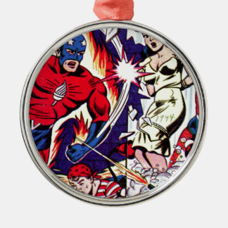 Torch Man and Torch Boy Metal Ornament