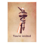 Torch of Liberty Personalized Invites