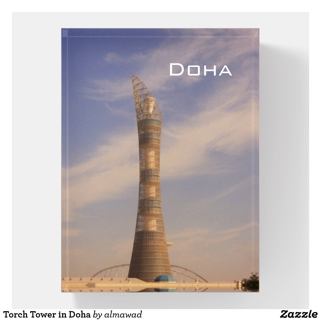 Torch Tower in Doha Paperweight