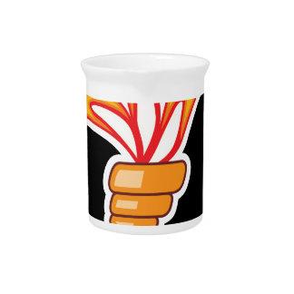 Torch vector drink pitcher