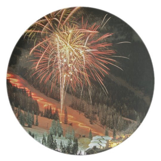 Torchlight parade and fireworks during Winter Dinner Plate