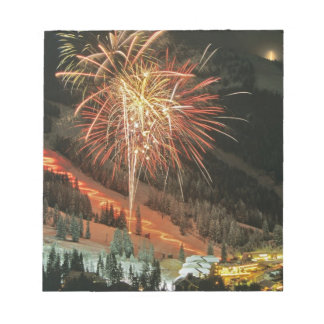 Torchlight parade and fireworks during Winter Memo Note Pad