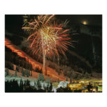 Torchlight parade and fireworks during Winter Print