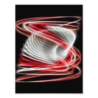 Torcido 1 rojo impresion fotografica