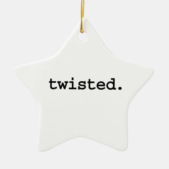 torcido adorno navideño de cerámica en forma de estrella