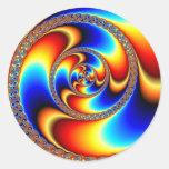 Torcido - fractal pegatinas redondas