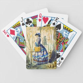 Tordo que caza 1834 baraja de cartas