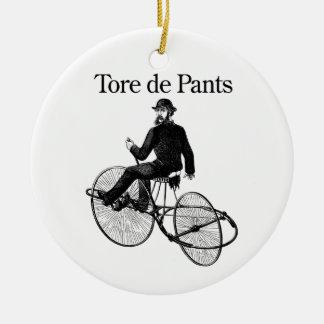 Tore de Pants Ceramic Ornament