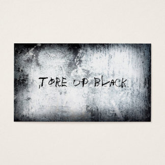 Tore Up [black] Business Cards