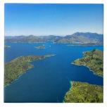 Torea Bay, Queen Charlotte Sound, Marlborough Large Square Tile