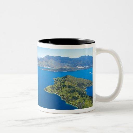 Torea Bay, Queen Charlotte Sound, Marlborough Two-Tone Coffee Mug