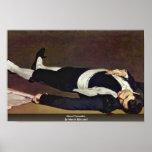 Toreador muerto de Manet Eduardo Posters