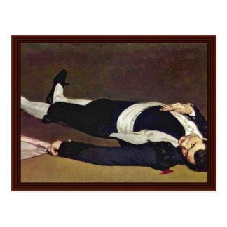 Toreador muerto de Manet Eduardo Tarjeta Postal