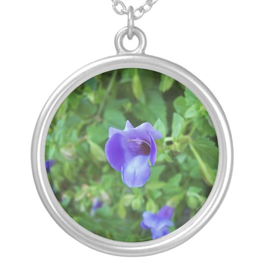 Torenia Silver Plated Necklace