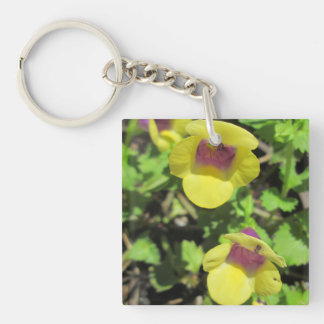 Torenia Yellow Plant Garden Flower Acrylic Key Chain