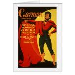 Torero Carmen WPA 1939 Felicitaciones