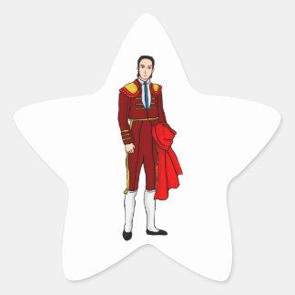 Torero/Matador/Torero/Toureiro Calcomanía Forma De Estrellae
