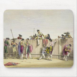 Toreros Reposing between the Bulls, 1865 (colour l Mouse Pad