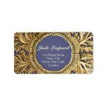 Toreuma Bellagemma Gold on Blue Custom Address Labels