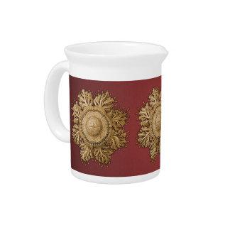 Toreuma Bellagemma Gold & Red Beverage Pitcher
